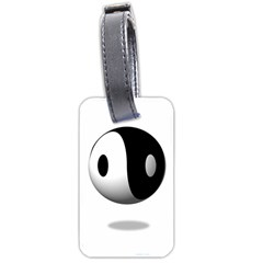 Yin Yang Luggage Tag (one Side) by hlehnerer