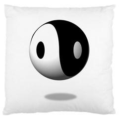 Yin Yang Large Cushion Case (one Side) by hlehnerer