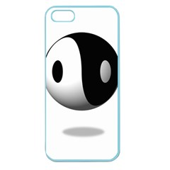 Yin Yang Apple Seamless Iphone 5 Case (color) by hlehnerer