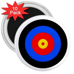 Target 3  Button Magnet (10 Pack) by hlehnerer