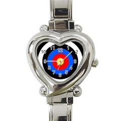 Target Heart Italian Charm Watch  by hlehnerer