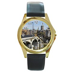 Hamilton 1 Round Metal Watch (gold Rim)