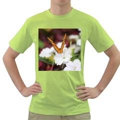 Butterfly 159 Mens  T Shirt (green) by pictureperfectphotography