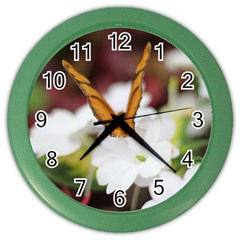 Butterfly 159 Wall Clock (color) by pictureperfectphotography