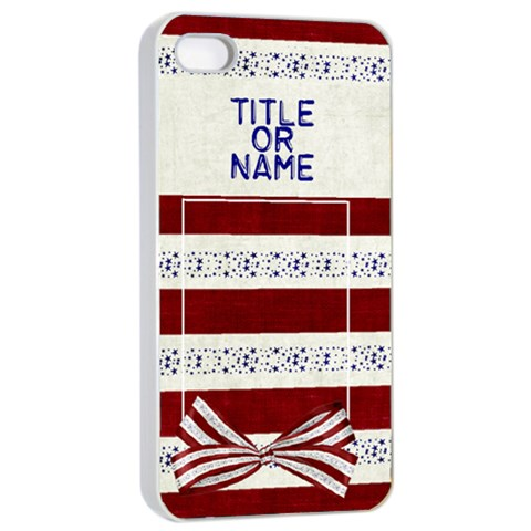 Star Spangled Iphone 4/4s Case By Bitsoscrap   Apple Iphone 4/4s Seamless Case (white)   Sq6uck2caxow   Www Artscow Com Front