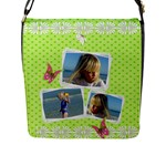 Princess Flap Closure Messener Bag (large) - Flap Closure Messenger Bag (Large)