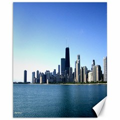 Chicago Skyline Canvas 11  x 14  9 (Unframed) by canvasngiftshop