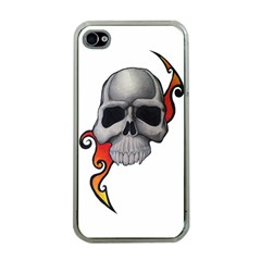 Skull Tattoo Apple iPhone 4 Case (Clear) by MakeYourOwnGiftIdeasUK