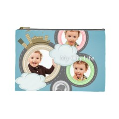 City Life By Anita   Cosmetic Bag (large)   Vngfsburazg7   Www Artscow Com Front