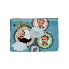 City Life By Anita   Cosmetic Bag (medium)   9b7hg4mre750   Www Artscow Com Front