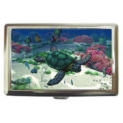 Sea Turtle Cigarette Money Case by gatterwe