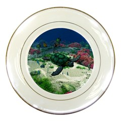 Sea Turtle Porcelain Plate by gatterwe