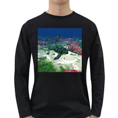 Sea Turtle Long Sleeve Dark T Shirt