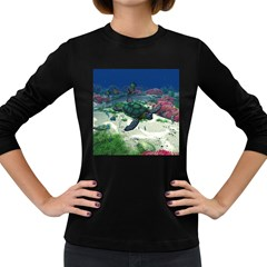 Sea Turtle Women s Long Sleeve Dark T Shirt