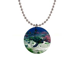 Sea Turtle 1  Button Necklace