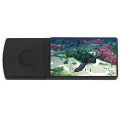 Sea Turtle Usb Flash Drive Rectangular (4 Gb) by gatterwe