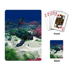Sea Turtle Playing Cards Single Design by gatterwe