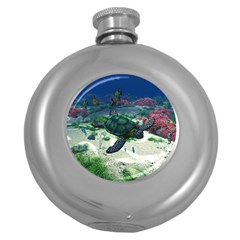 Sea Turtle Hip Flask (5 Oz) by gatterwe