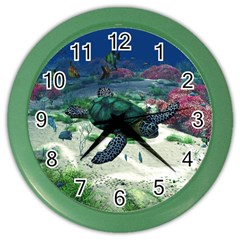 Sea Turtle Color Wall Clock
