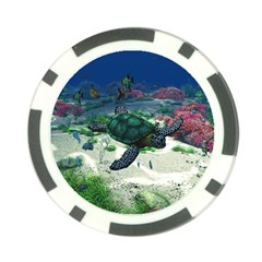 Sea Turtle Poker Chip Card Guard by gatterwe
