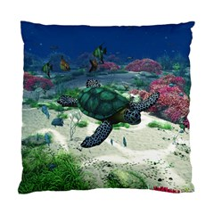 Sea Turtle Cushion Case (one Side) by gatterwe