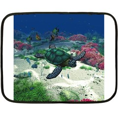 Sea Turtle Mini Fleece Blanket(two Sides)