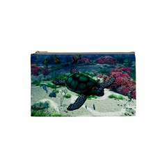 Sea Turtle Cosmetic Bag (small) by gatterwe