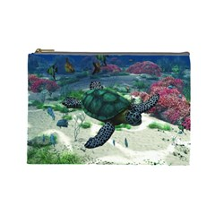 Sea Turtle Cosmetic Bag (large) by gatterwe