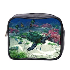 Sea Turtle Mini Travel Toiletry Bag (two Sides) by gatterwe
