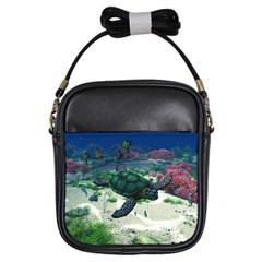 Sea Turtle Girl s Sling Bag by gatterwe