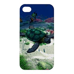 Sea Turtle Apple Iphone 4/4s Premium Hardshell Case by gatterwe