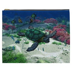 Sea Turtle Cosmetic Bag (xxxl) by gatterwe