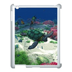 Sea Turtle Apple Ipad 3/4 Case (white) by gatterwe