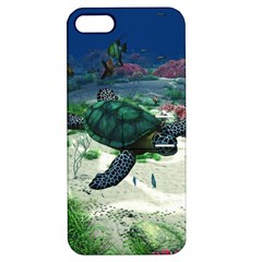 Sea Turtle Apple Iphone 5 Hardshell Case With Stand