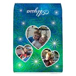 Blue Swirls - Removable Flap Cover - Removable Flap Cover (Large)