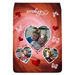 Butterfly & Hearts - removable flap large - Removable Flap Cover (L)