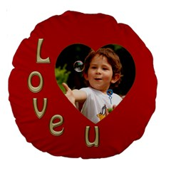 Love U 18  Premium Round Cushion By Deborah   Large 18  Premium Round Cushion    T7dk9j4d9jqi   Www Artscow Com Back