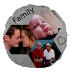 Family 18  Premium Round Cushion - Large 18  Premium Round Cushion
