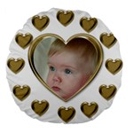 Hearts 18  Premium Round Cushion - Large 18  Premium Round Cushion