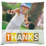 thank - Large Cushion Case (Two Sides)