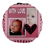 love - 18  Premium Round Cushion