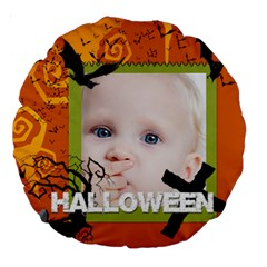 Halloween By Mac Book   Large 18  Premium Round Cushion    Gxfrlqcg9cd7   Www Artscow Com Front
