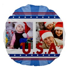 Usa By Mac Book   Large 18  Premium Round Cushion    Fzt6jy7ao57j   Www Artscow Com Front
