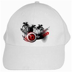 Music, Speaker White Baseball Cap by EnjoymentArt