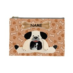 Doggie Large Cosmetic Bag By Joy Johns   Cosmetic Bag (large)   7i57xuicfylf   Www Artscow Com Front