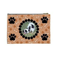 Doggie Large Cosmetic Bag By Joy Johns   Cosmetic Bag (large)   7i57xuicfylf   Www Artscow Com Back
