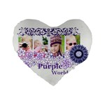 flower kids - Standard 16  Premium Heart Shape Cushion