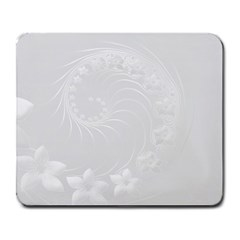 Light Gray Abstract Flowers Large Mouse Pad (rectangle) by BestCustomGiftsForYou