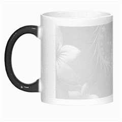 Light Gray Abstract Flowers Morph Mug
