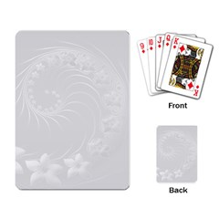 Light Gray Abstract Flowers Playing Cards Single Design by BestCustomGiftsForYou